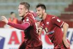 Il Trapani esulta dopo la vittoria, Silvestri: «Ora ci serve continuità»