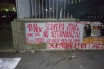 """Palermo, nella notte striscioni annunciano sciopero contro la """"Buona scuola"""" - Foto"""