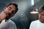Roger Federer testimonial Barilla con Oldani