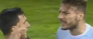 Gli negano un rigore, Immobile impazzisce: ecco il video della testata a Burdisso
