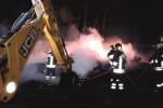 Incendio nell'isola ecologica di Santa Ninfa, danni ingenti