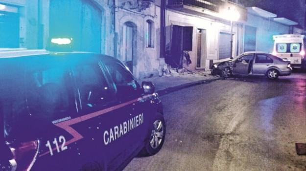 auto si schianta, Sortino, Siracusa, Cronaca