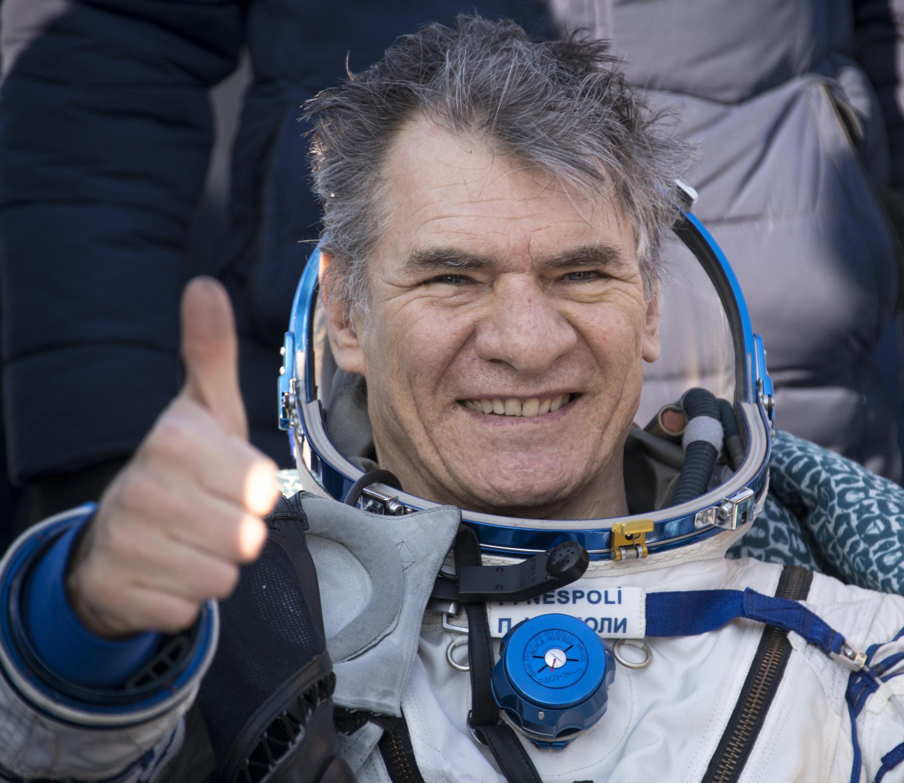 Paolo Nespoli torna sulla Terra e saluta Padova