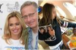 La foto postata su Instagram da Sonia Bruganelli, in cui si vede la figlia nel jet privato