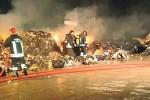 Rifiuti a fuoco all'ospedale di Castelvetrano
