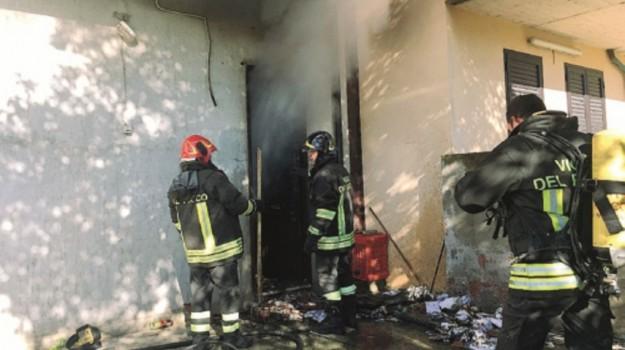 Capo d'orlando incendio, Messina, Cronaca