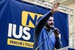 """Salvini contro lo Ius soli: """"Se non battiamo Renzi-Di Maio cambiamo mestiere"""""""