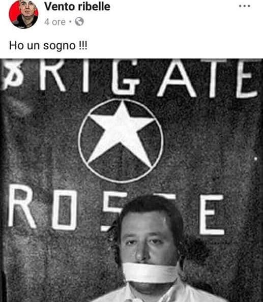 Salvini imbavagliato e ostaggio delle BR.