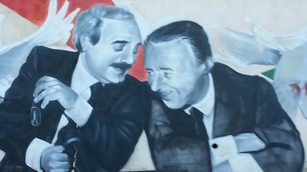 murales falcone e borsellino serradifalco, Caltanissetta, Cronaca