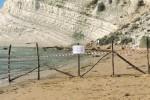 """Scala dei Turchi """"chiusa"""" per crolli con uno steccato"""