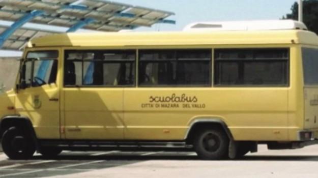 Mazara trasporto alunni, Trapani, Cronaca
