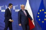 Polonia: cautela a Bruxelles dopo cena Juncker-Morawiecki