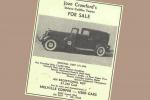 In vendita all'asta la Cadillac di Joan Crawford