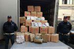 Carini, sequestrati 1500 chili tra hashish e cocaina: tre arresti