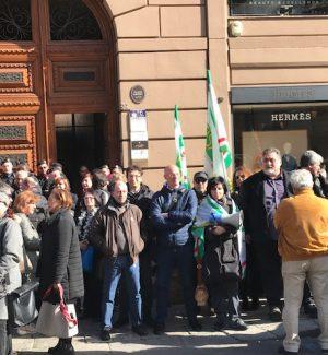 """Protesta dei dipendenti Sas a Palermo, i sindacati: """"Silenzio dalla governance societaria"""""""