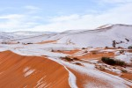 Le immagini della neve sul Sahara ma in Europa è caldo record - Foto