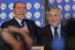 Silvio Berlusconi con Antonio Tajani, presidente del Parlamento europeo