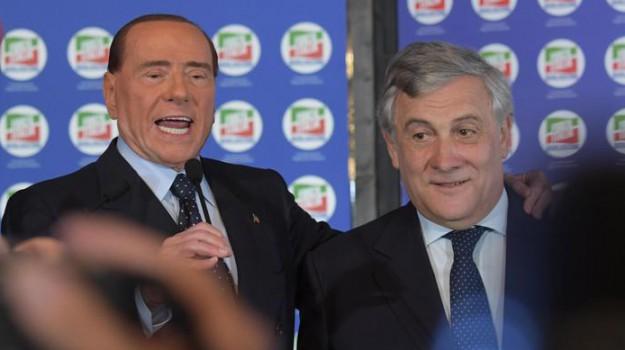elezioni politiche 2018, Antonio Tajani, Giorgia Meloni, Silvio Berlusconi, Sicilia, Politica