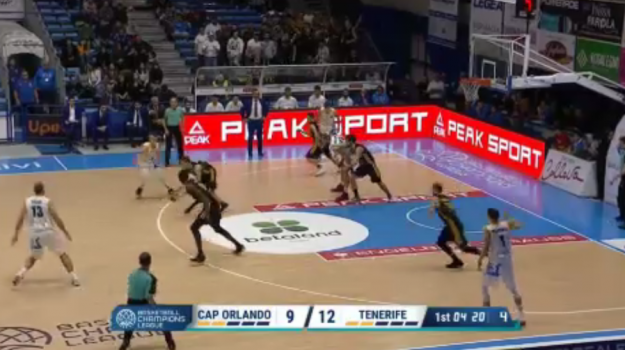 Betaland, tracollo in Champions League contro il Tenerife - Video