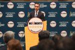 Il candidato premier M5S Luigi Di Maio durante la presentazione dei candidati