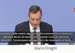 """Draghi congela il 'bazooka': """"Acquisto titoli prosegue"""""""