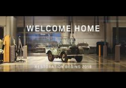 Il restauro della Land Rover persa e ritrovata