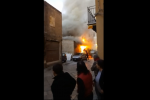 Rogo in via Gioiamia, le immagini dell'incendio - Video
