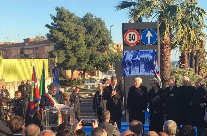 Mattarella a Librino inaugura rotonda intitolata a Ciampi. L'elogio ai