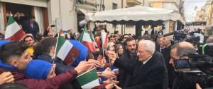 L'arrivo del presidente della Repubblica a Partanna (foto Spanò)