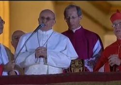 Papa Francesco appena eletto recita il Padre nostro