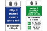 Auto, dal 15 novembre scatta obbligo catene a bordo o gomme invernali