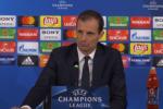 "Juve bloccata sul 2-2 dal Tottenham, Allegri: ""Guai a deprimersi"" - Video"