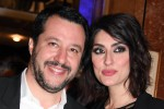 Northern League (Lega Nord) party leader Matteo Salvini and his partner Elisa Isoardi at the 68th Sanremo Italian Song Festival in Sanremo, Italy, 09 February 2018. The festival will run from 06 to 10 February. ANSA/CLAUDIO ONORATI TI