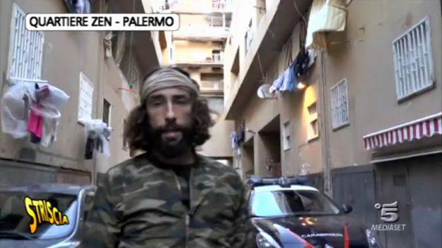 Brumotti, Brumotti aggredito, striscia la notizia, Vittorio Brumotti, Palermo, Cronaca
