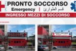 """Il Civico di Palermo apre all'integrazione: la scritta """"Pronto Soccorso"""" anche in arabo"""