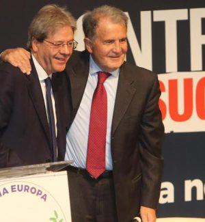 """Prodi """"investe"""" Gentiloni: """"Con lui il Paese è più forte"""""""
