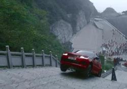 La Range Rover Sport i bridaScalata fino alla Porta del Cielo