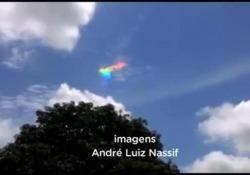 La rara nuvola arcobaleno nel cielo di Paranà