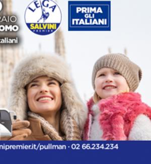 """""""Prima gli italiani"""", ma in foto ci sono stranieri: ironia del web sui manifesti di Salvini"""