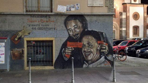 sfregio murales falcone e borsellino, Sicilia, Cronaca