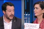"Primo ""duello"" in tv fra candidati: scintille fra Salvini e Boldrini - Video"