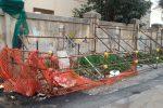 Degrado in via San Lorenzo a Palermo nei pressi della scuola elementare Bentivegna