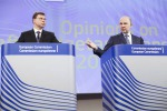 I commissari Valdis Dombrovskis e Pierre Moscovici © Commissione Ue