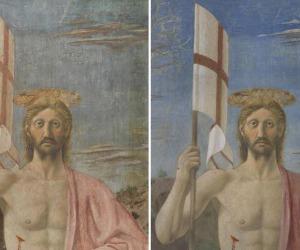 S.Sepolcro, risplende la Resurrezione