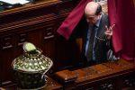 Telecamere davanti al Senato per la seduta di insediamento della XVII legislatura