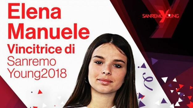 sanremo young, Elena Manuele, Catania, Società