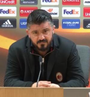 """Milan eliminato dall'Arsenal, Gattuso: """"Arrabbiato perché abbiamo mollato"""" - Video"""