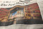 """Il Teatro Massimo di Palermo in prima pagina sul New York Times: """"Simbolo anti-mafia"""""""