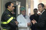 Esplosione a Catania, Musumeci visita i due pompieri feriti