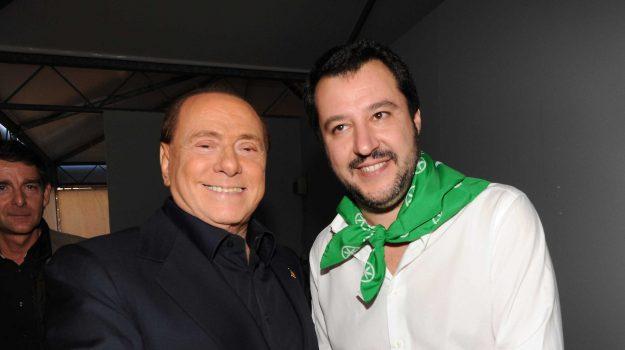 centrodestra, incontro Salvini Berlusconi, lega-forza italia, Matteo Salvini, Silvio Berlusconi, Sicilia, Politica